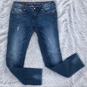 Sora Jewels Back Pocket Distressed Skinny Jeans